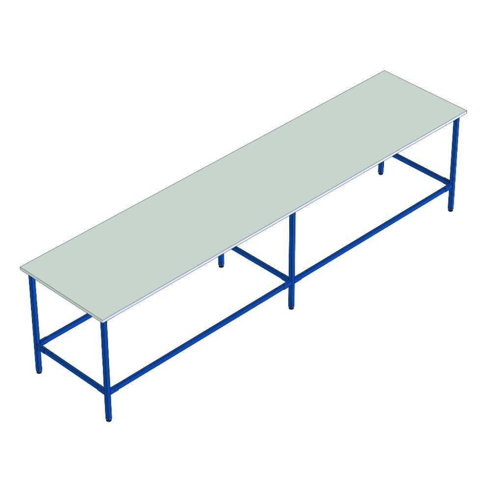 Table de travail multi-usages - L350cm x P120cm x H85cm - 6 pieds