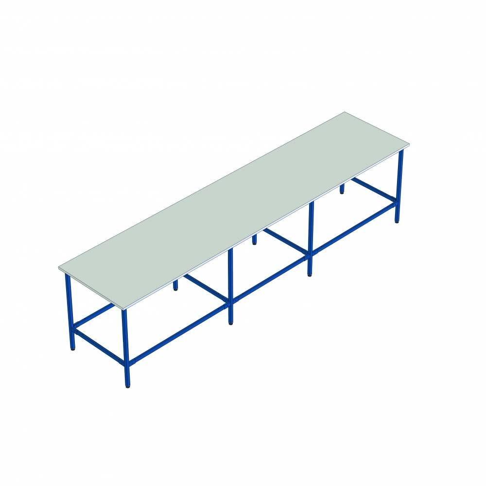 Table de travail multi-usages - L350cm x P120cm x H100cm - 8 pieds