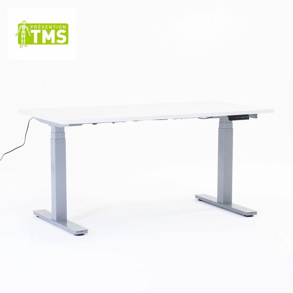 Table réglable en hauteur électriquement - L150cm - Plateau mélaminé