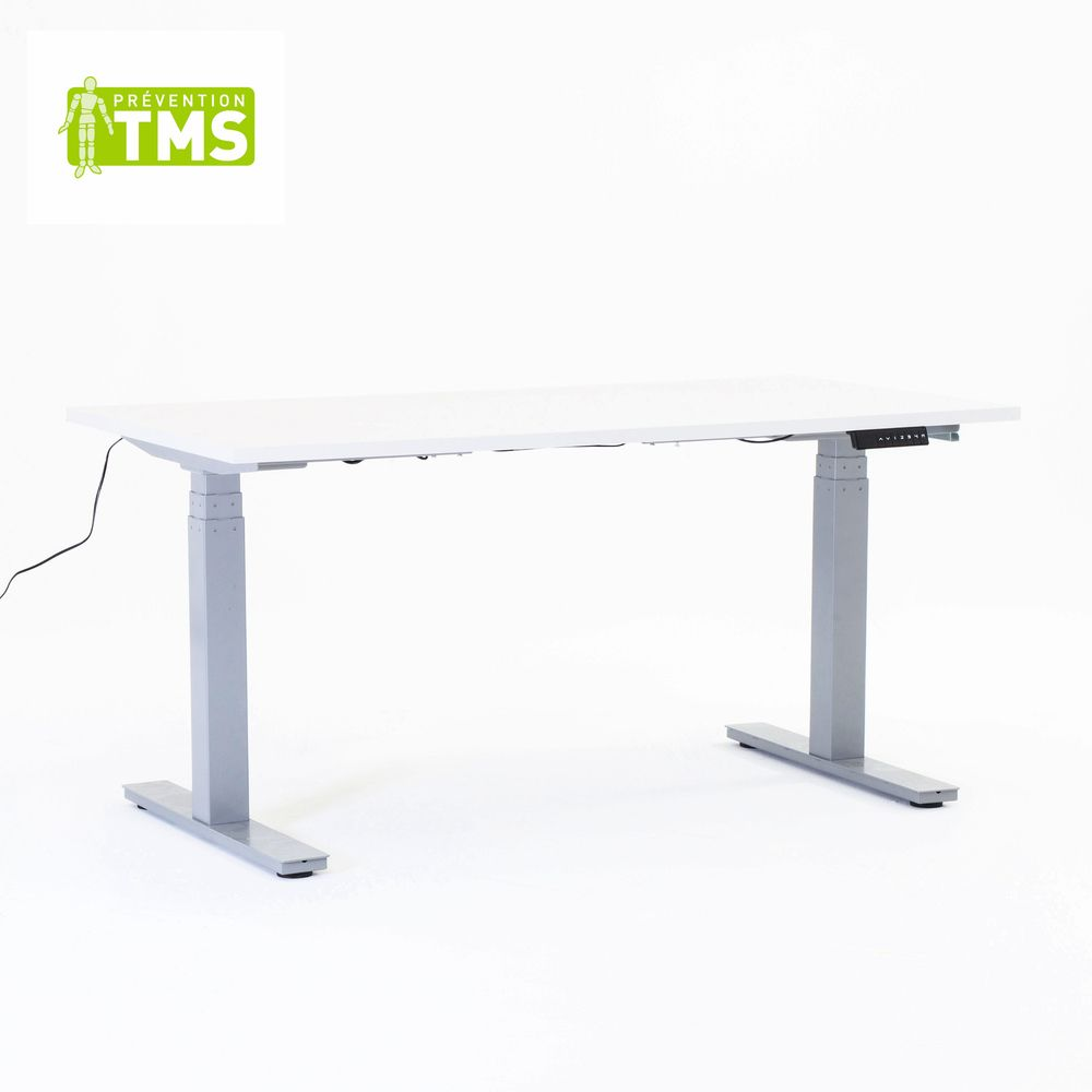 Table réglable en hauteur électriquement - L180cm - Plateau mélaminé
