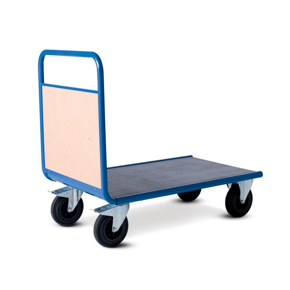 Chariot manutention avec dossier bois charge 500kg - L100 x l70cm