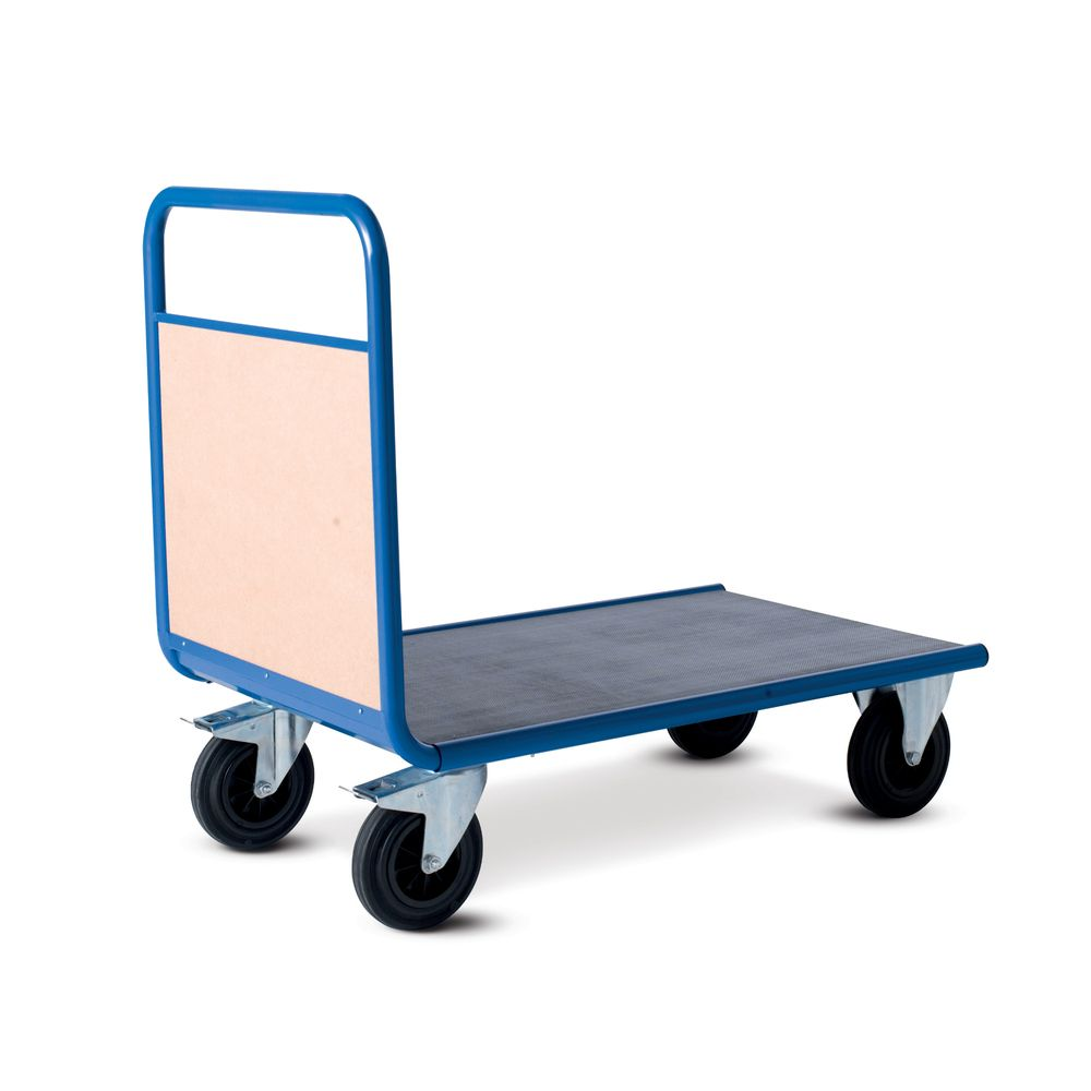 Chariot manutention avec dossier bois charge 500kg - 120 x l80cm