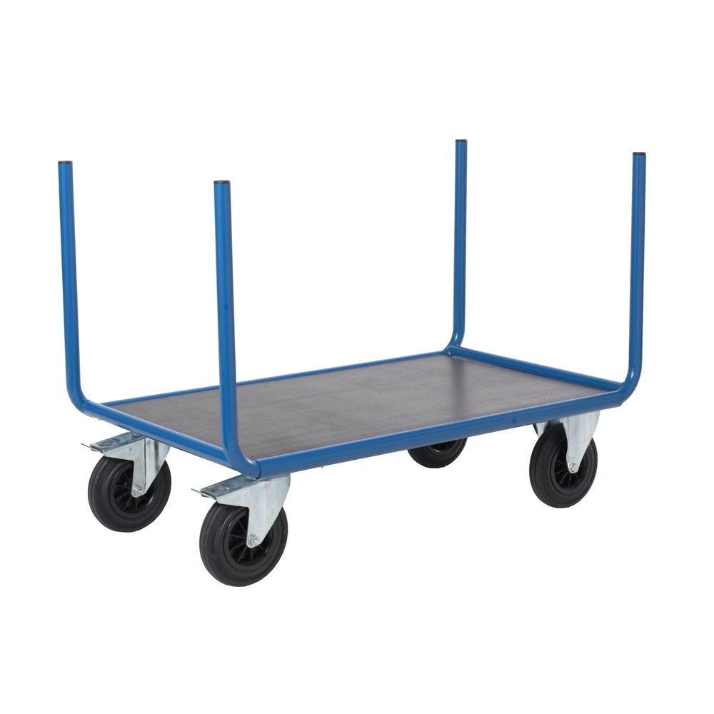 Chariot manutention sans ridelle charge 500kg - L120 x l70cm