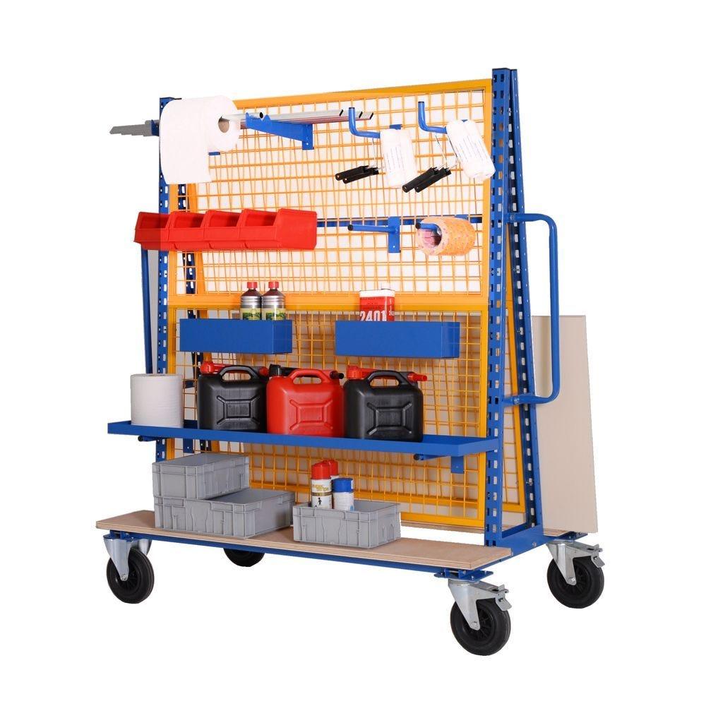 Chariot porte-outils double face - L168,8cm x P81cm x H178,5cm