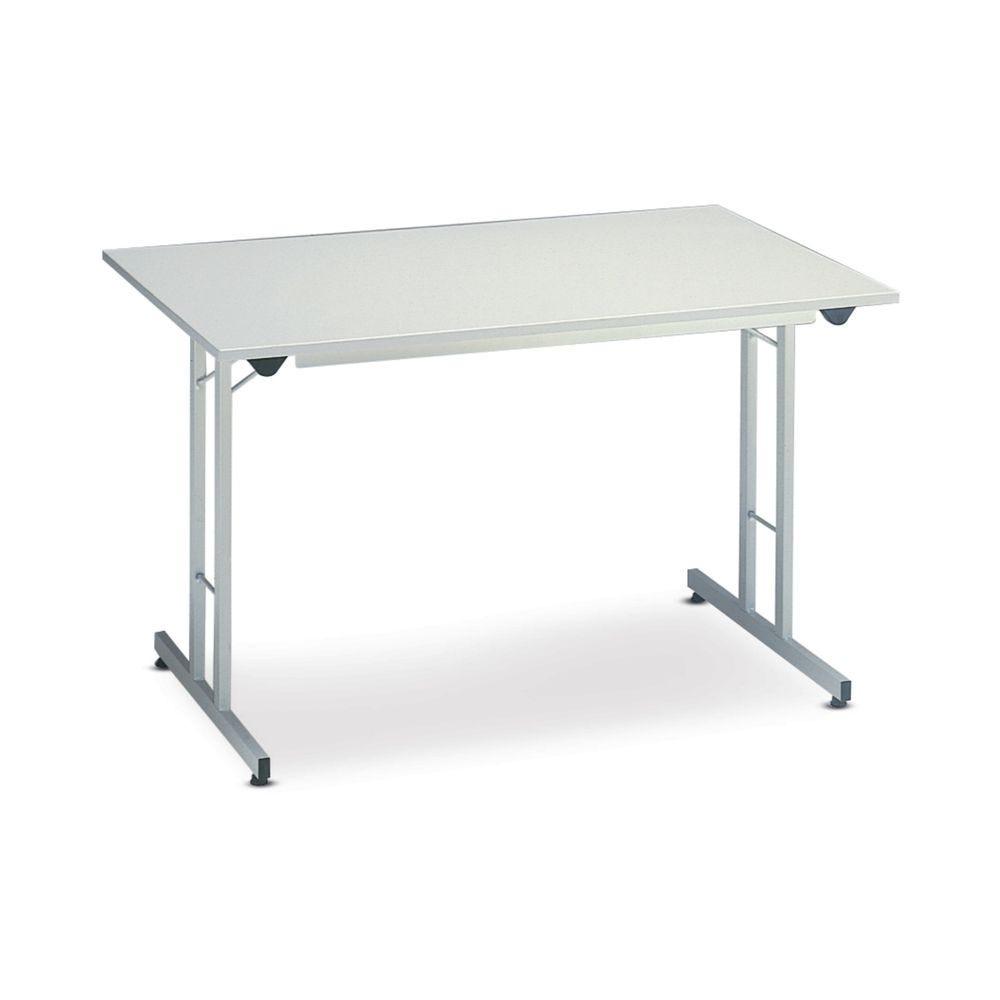 Table pliante mélaminé gris - 160 x 80cm
