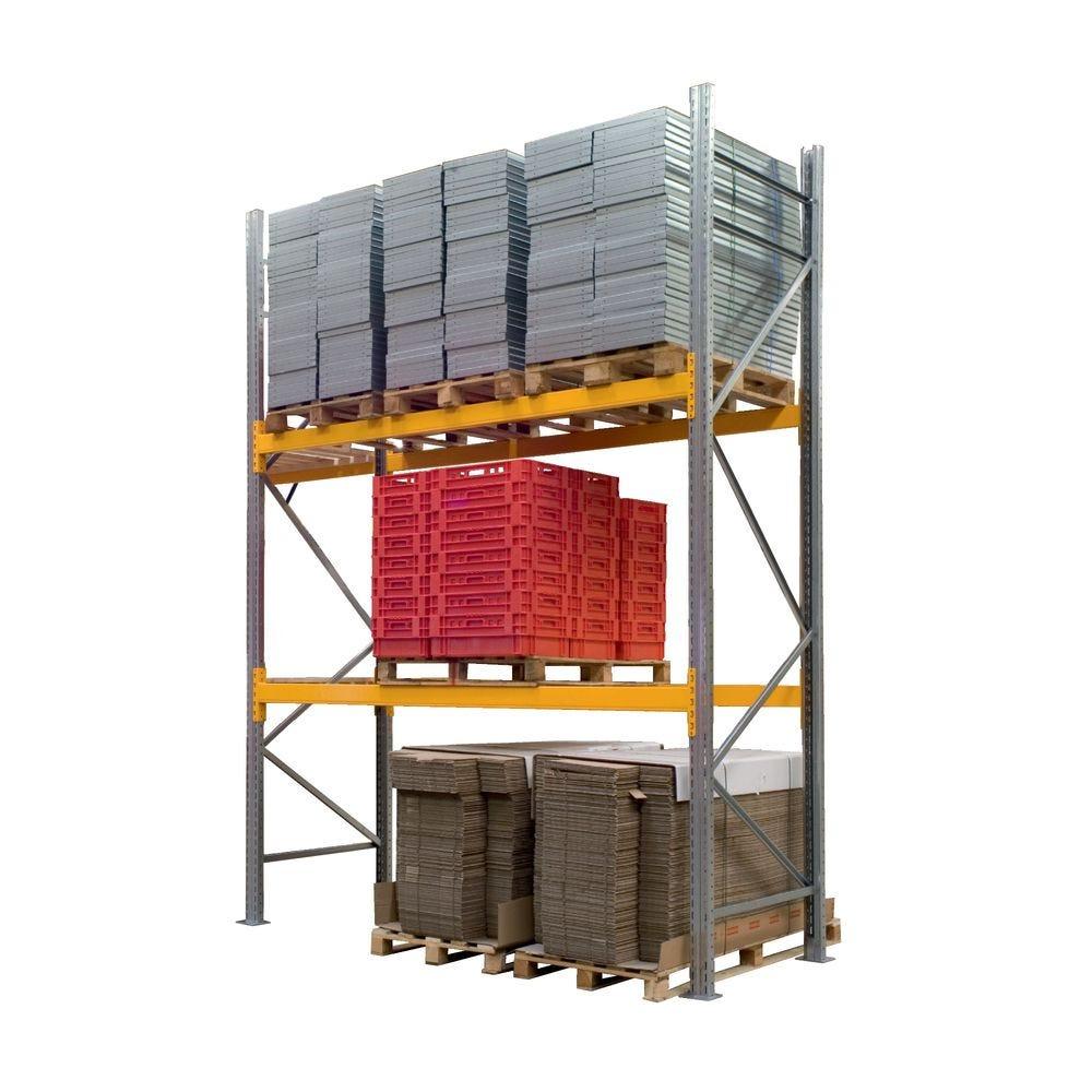 Rayonnage lourd à palettes PROPAL - Elément départ - 1200kg par niveau
