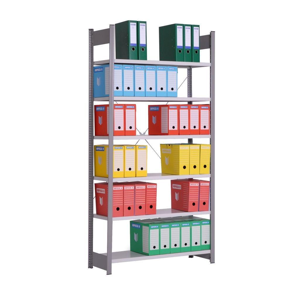 Rayonnage léger ICARE 6 niveaux - Element départ - L121cm x H200cm x P80cm