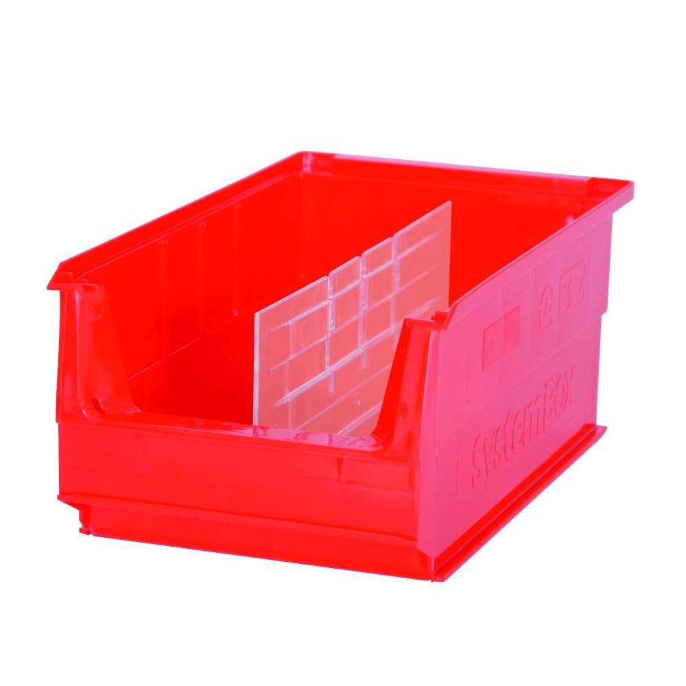 Séparateurs longitudinaux bacs à becs systembox modèle 6 - 500x310x145 mm