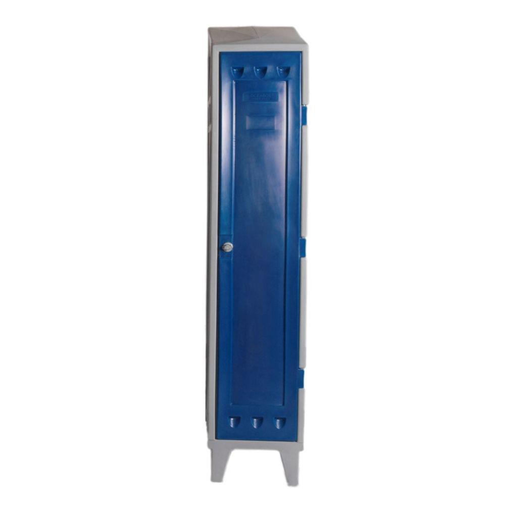 Vestiaire industrie propre - 1 colonne - longueur 400 et largeur 500 mm (photo)