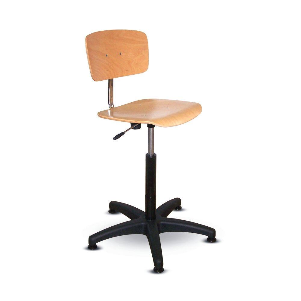 Chaise bois réglable en hauteur avec vérin