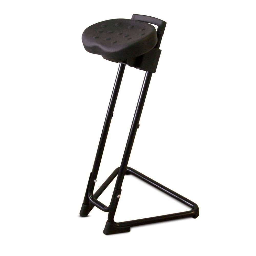 Siège assis-debout assise inclinable et pivotante