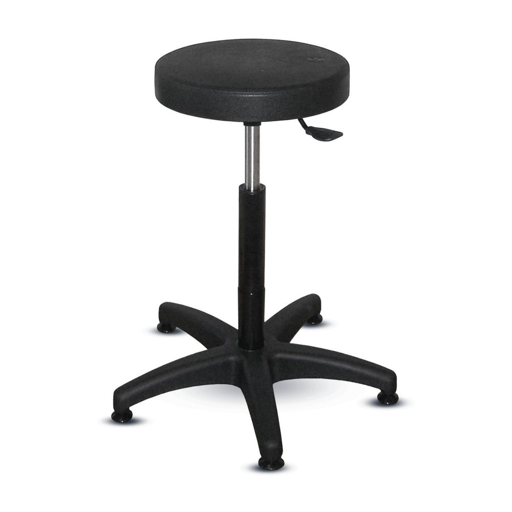 Tabouret à patins articulés piètement polyamide (photo)