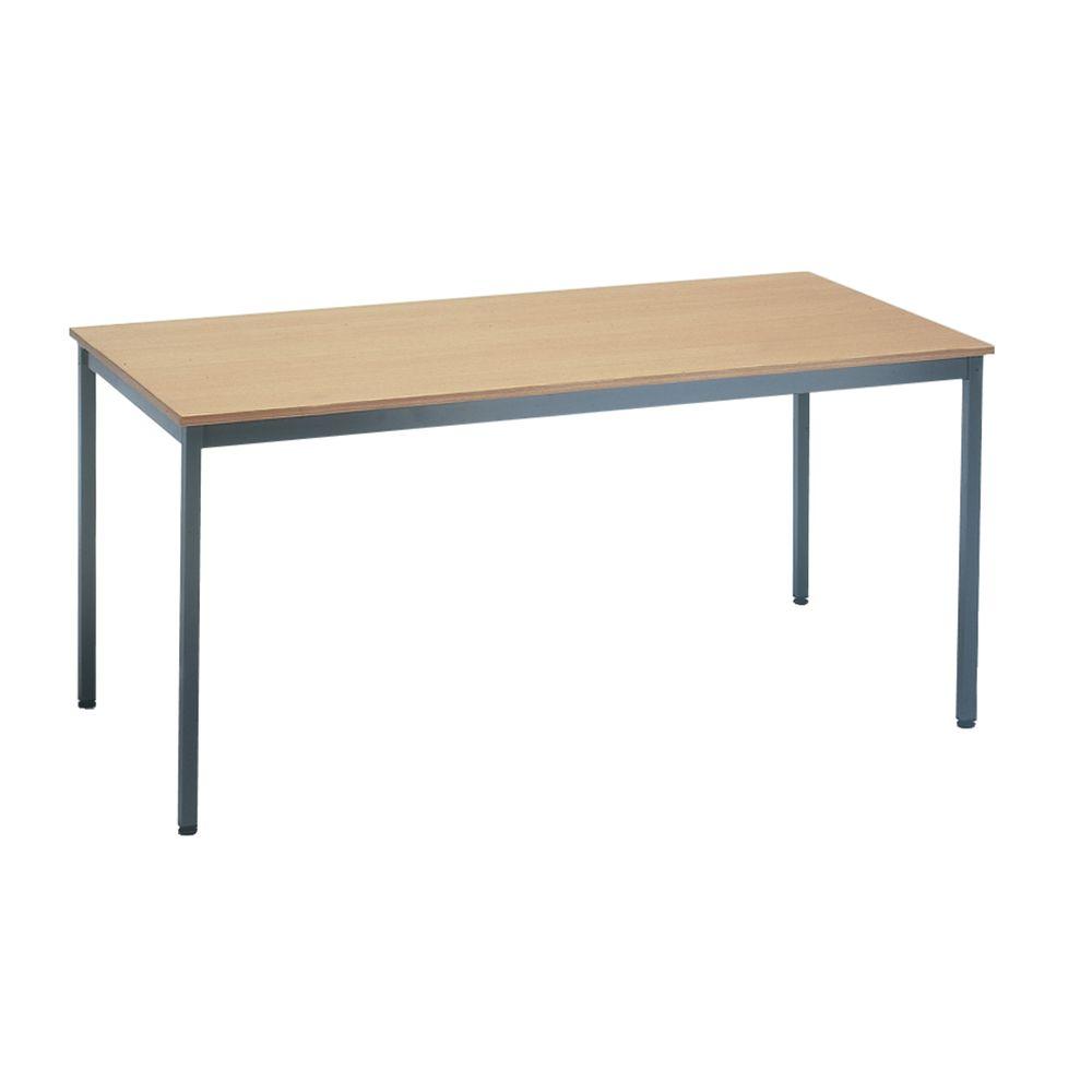 Table polyvalente hêtre longueur 1,6 m x larg 0,80 m (photo)