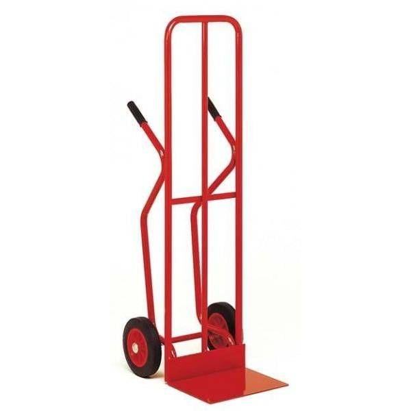 Diable dossier large avec roues en caoutchouc charge 250 kg (photo)