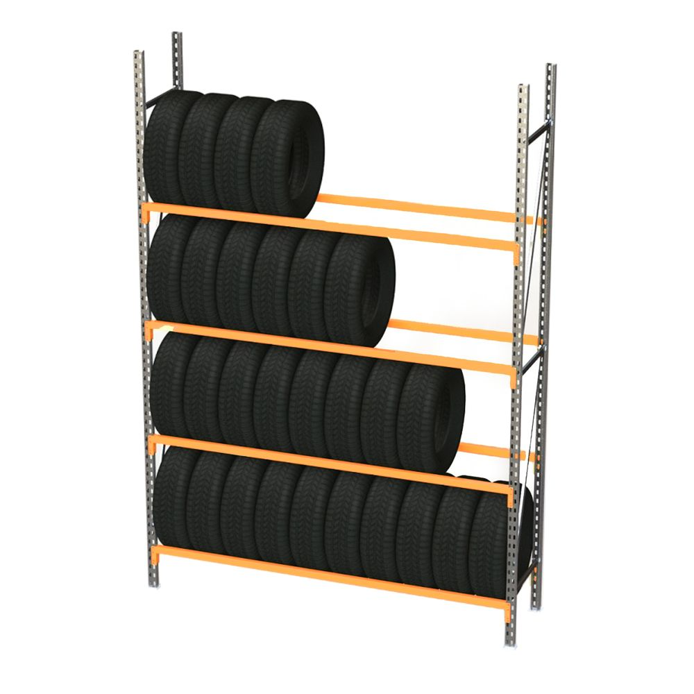 Rack à pneus prorack+ longueur 2000 mm et hauteur 2400 mm - elément départ (photo)