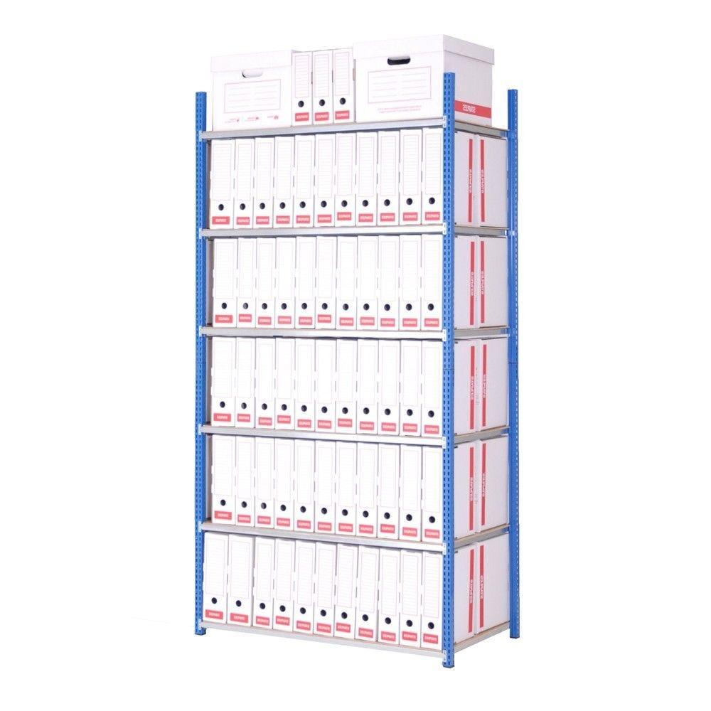 Rayonnage tubulaire axel version archives 200 x 100 x 70 cm 6 niveaux départ (photo)
