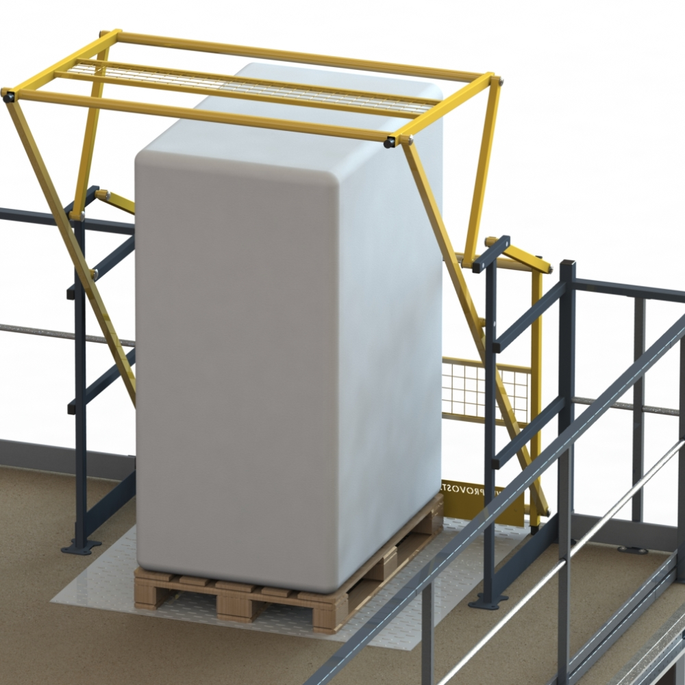 Barrière écluse basculante pour plateforme de stockage 1,70 x 2,248 x 2 m (photo)