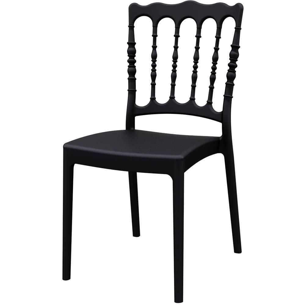 Chaise empilable napoleon noire - FURNITRADE par 8