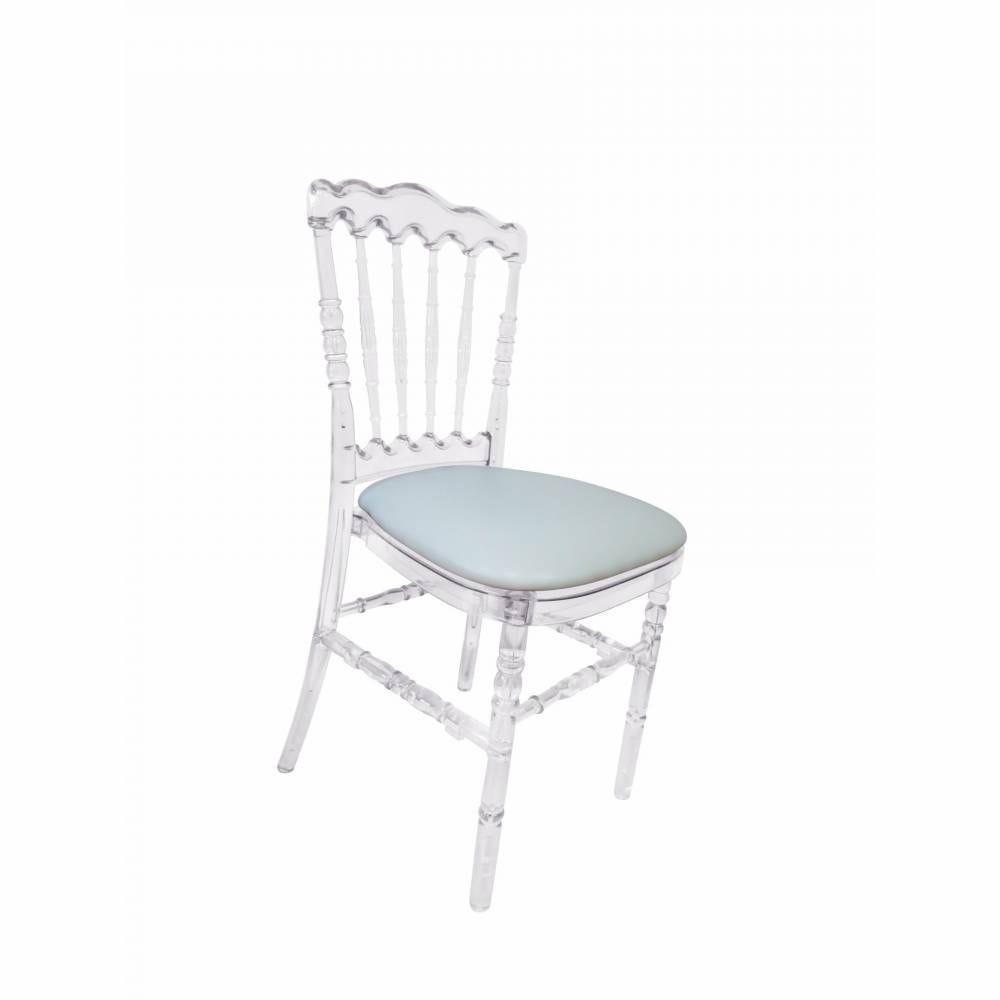 Chaise empilable napoleon transparente - FURNITRADE par 16