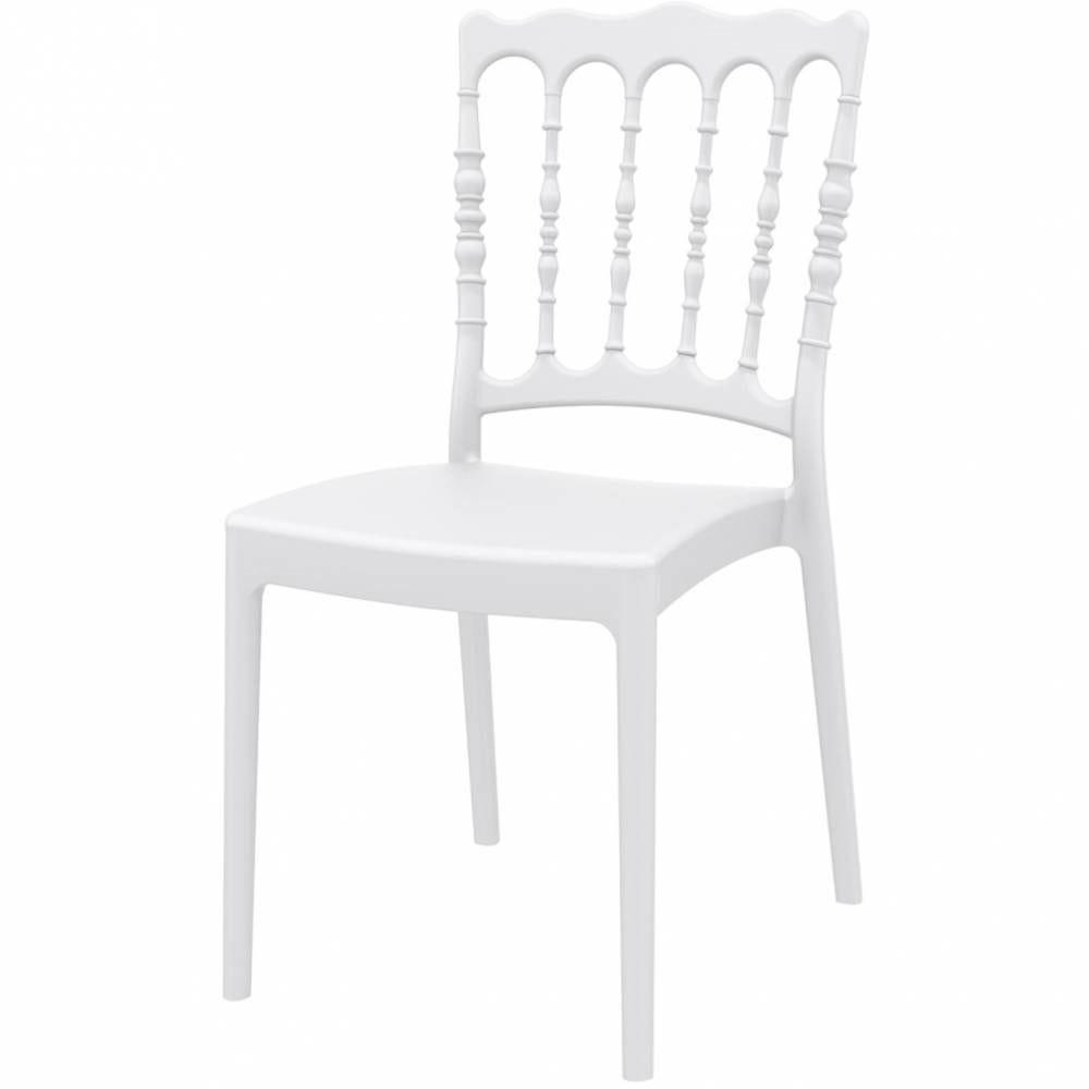 Chaise empilable napoleon blanche - FURNITRADE par 16
