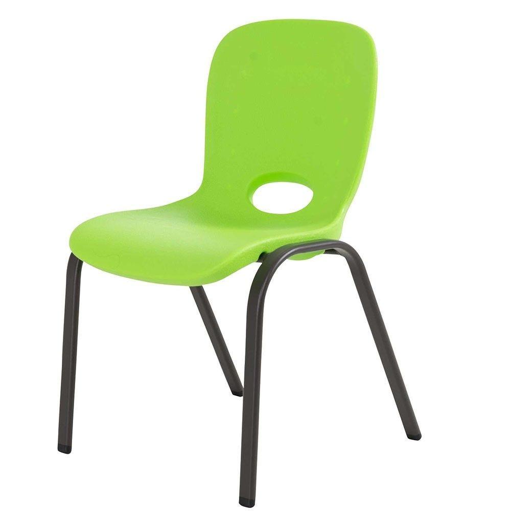 Chaise enfant empilable verte - LIFETIME - par 4