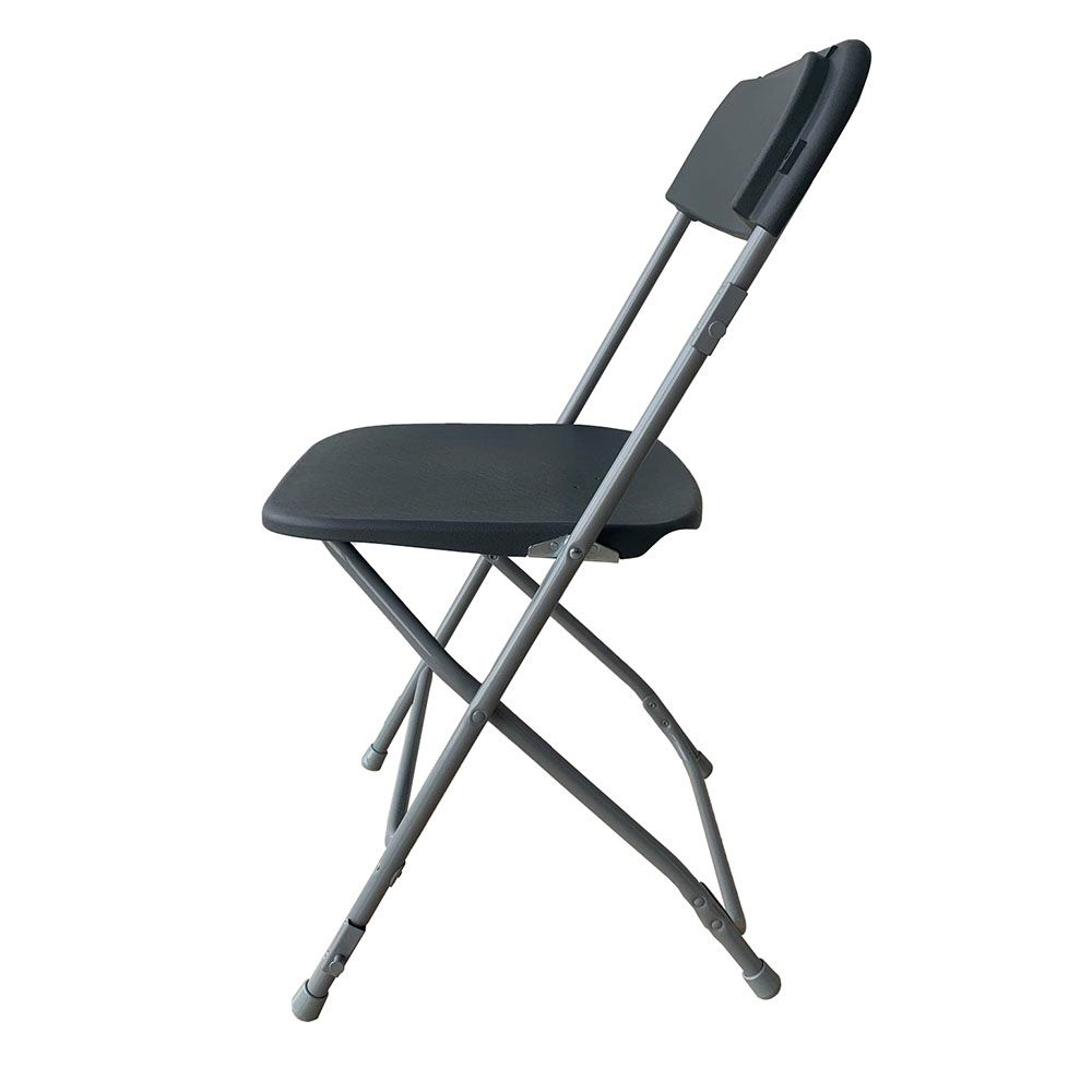 Chaise pliante jet gris anthracite m2 - par 8 (photo)