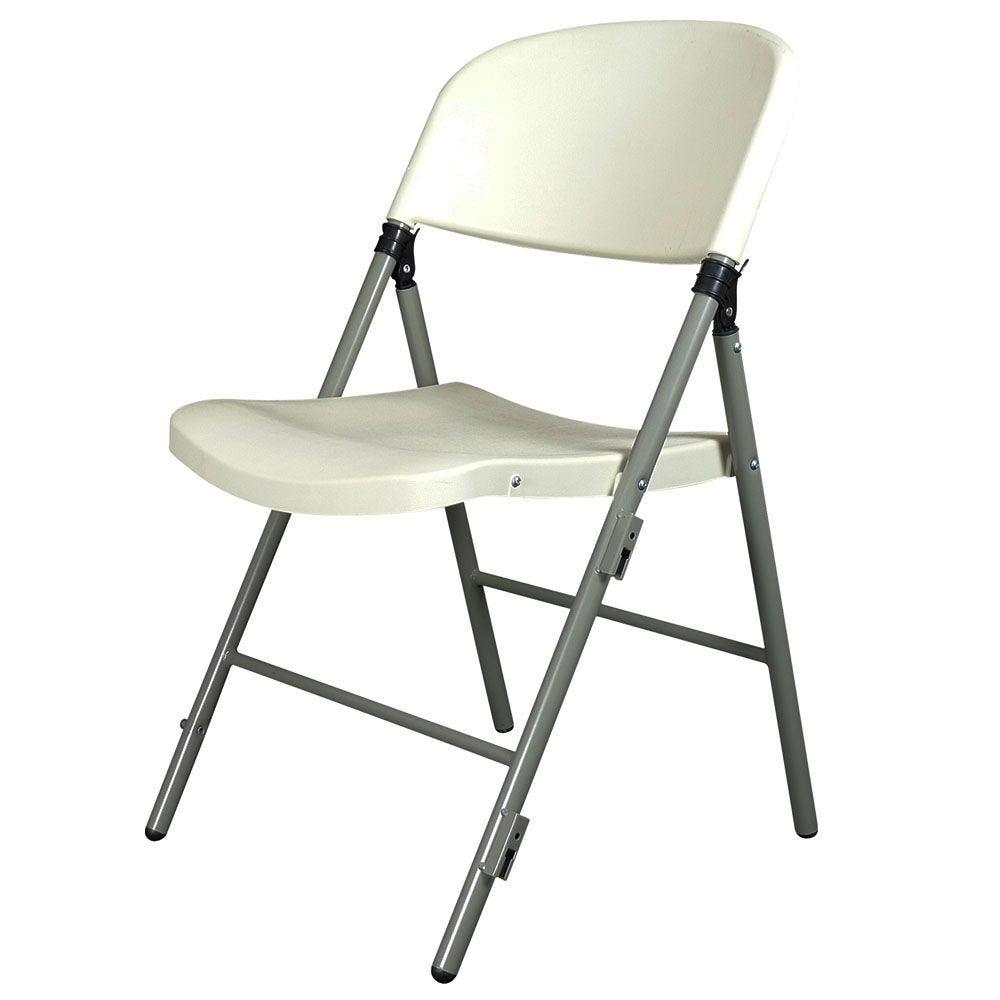 Chaise pliante jumbo blanche m2 - par 6 (photo)