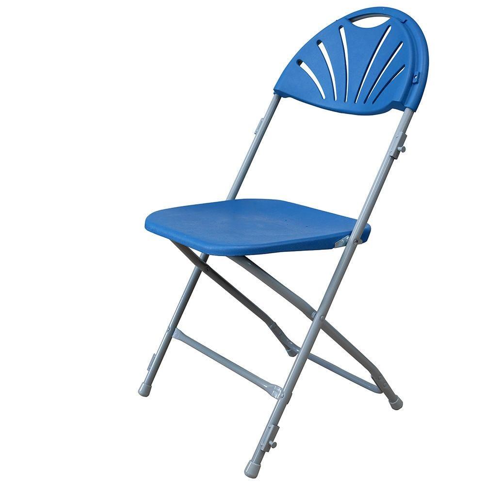 Chaise pliante palme bleue m2 - par 6 (photo)