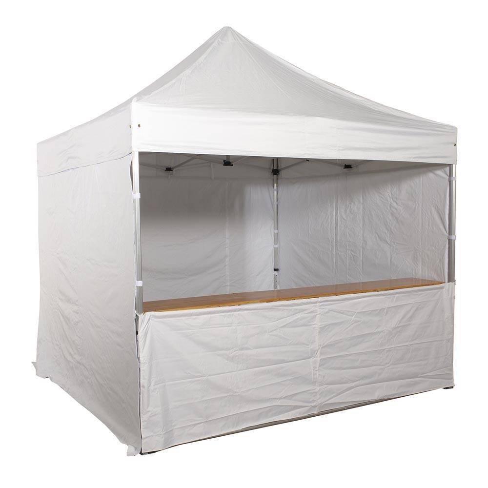 Comptoir pliant pour tente 3 mètres et devant de comptoir (photo)