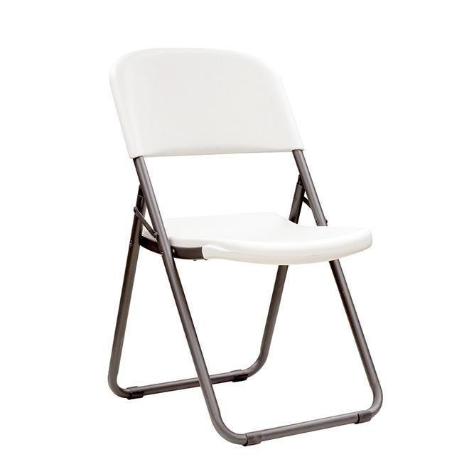 Chaise pliante loop leg  blanche - par 4 (photo)