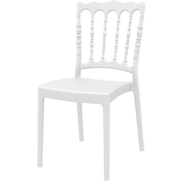 Chaise empilable napoléon blanche - par 4 (photo)