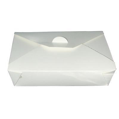 Boite repas blanche 21 x 16 x 6 cm - par 50 (photo)