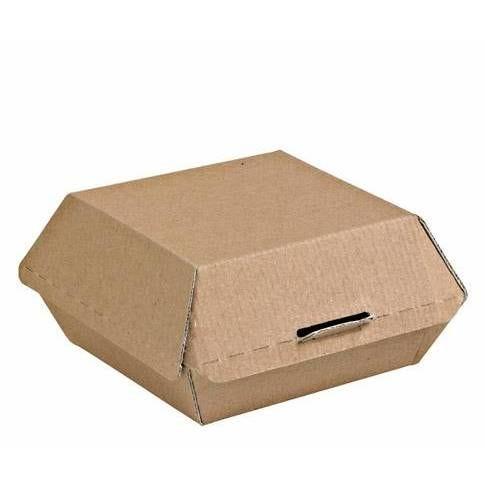 Boîte àhamburger kraft - par 50 (photo)