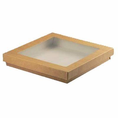 Boîte kray brune 21,5 x 21,5 cm - par 100 (photo)