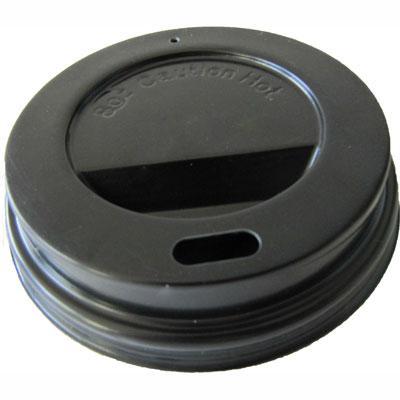 Couvercle dôme noir pour 25 cl - par 100 (photo)