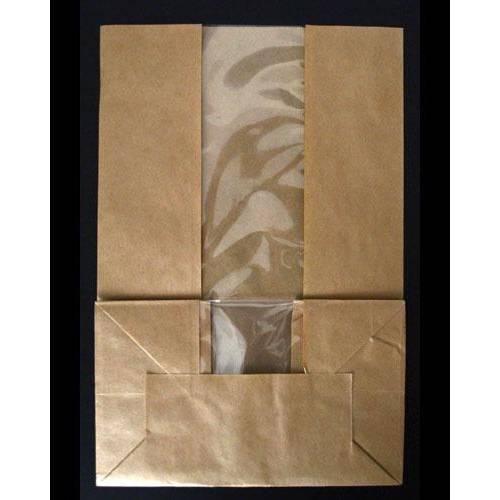 Sac sos kraft à fenêtre 27 x 18 cm - par 500 (photo)