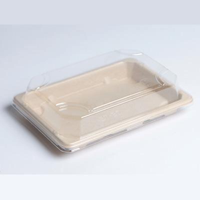 Barquette sushi pulpe petit modèle 16,5 x 11,5 cm hauteur 1,5 cm - par 50 (photo)