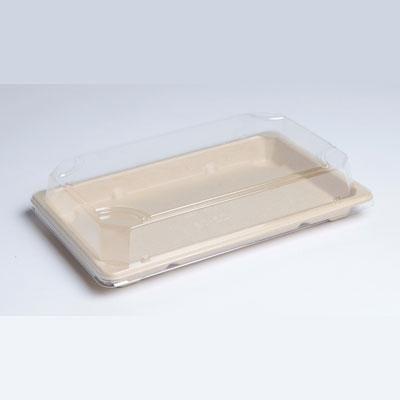 Barquette sushi pulpe grand modèle 23,1 x 13,3 cm hauteur 1,5 cm - par 50 (photo)