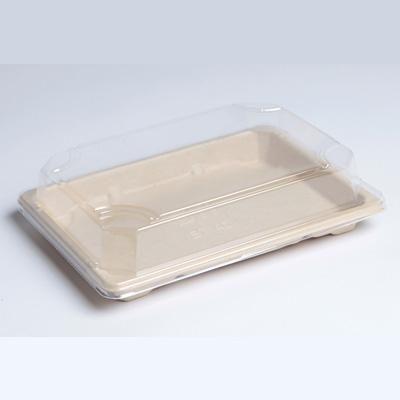 Barquette sushi pulpe moyen modèle 18,5 x 13 cm hauteur 1,5 cm - par 50 (photo)