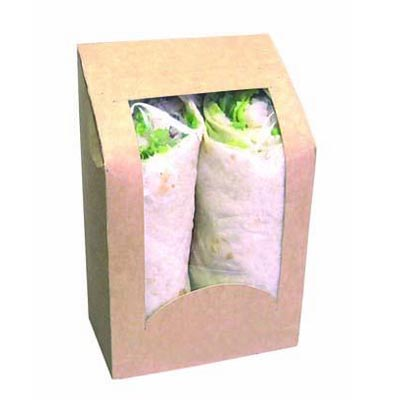 Boîte kraft à  wraps - par 50 (photo)