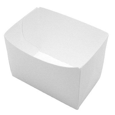 Barquette carton blanche 10 x 6 cm - par 250 (photo)