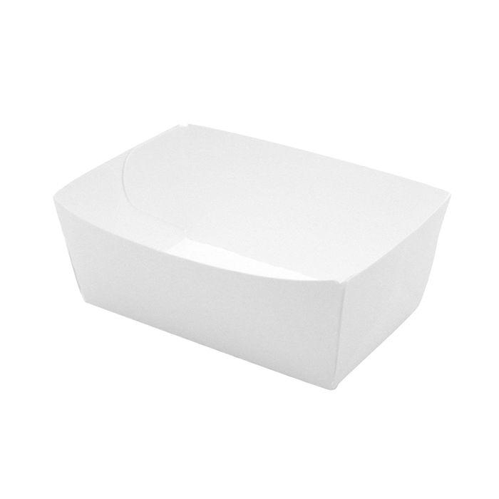 Barquette carton blanche 15 x 9 cm - par 250 (photo)