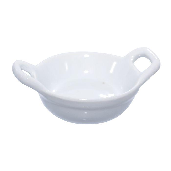 Mise en bouche porcelaine blanche - par 24