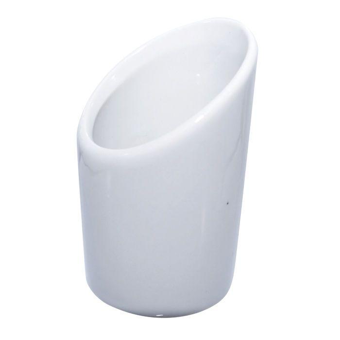 Mini pot en porcelaine blanche - par 24