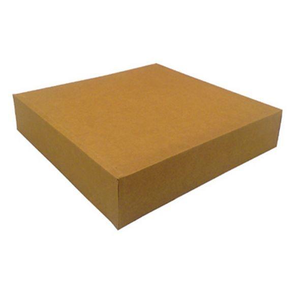 Boite pâtissière carton kraft brun 180x180x80 mm - par 150
