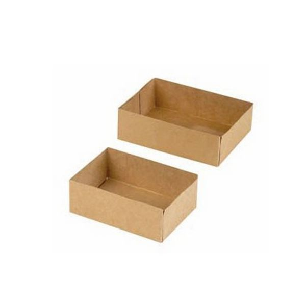 Boite patissiere carton brun sans couvercle 158x118x48 mm - par 600
