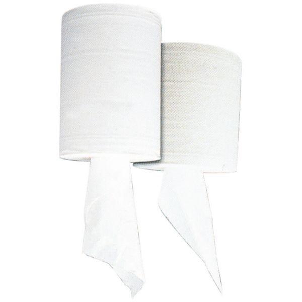 Bobine essuyage de papier blanc 2 plis 19x21cm - par 6 (photo)