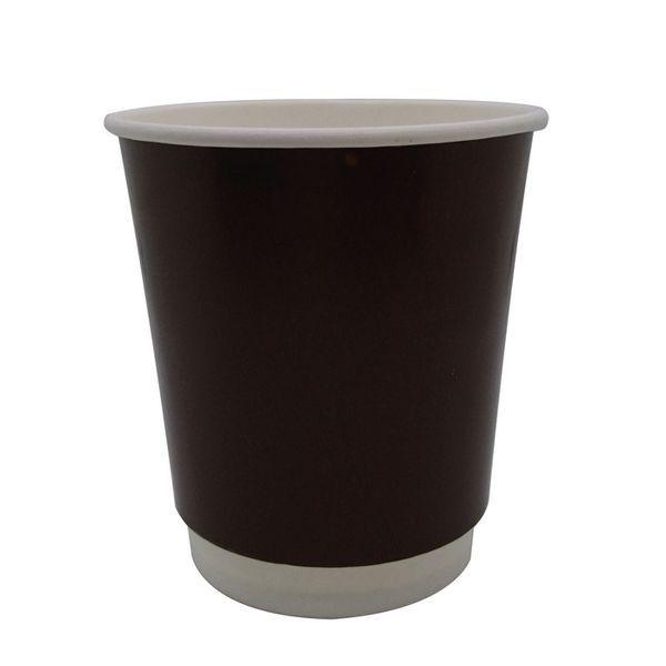 Gobelet carton marron foncé - double paroi 230 ml - par 500