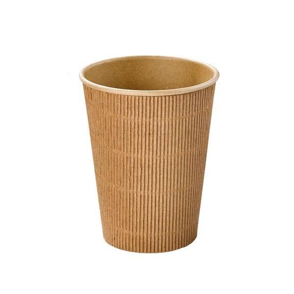 Gobelet carton kraft rippley 350 ml - par 500