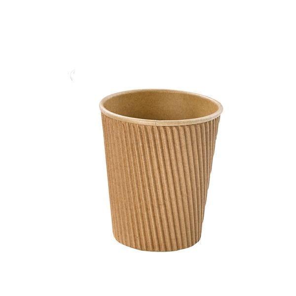 Gobelet carton kraft rippley 230 ml - par 1000
